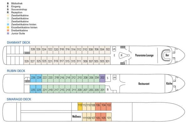 MS Swiss Crown Deckplan