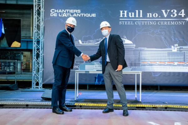 MSC Cruises: Stahlschnitt der MSC Euribia