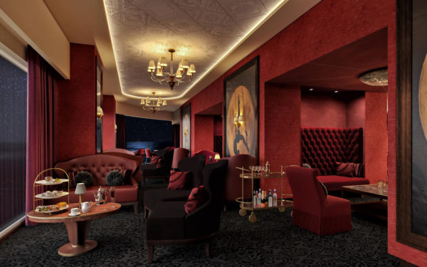 Die Le Cabaret Rouge Lounge auf der MSC Seashore